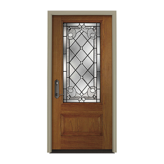 Pella European 3/4 Light Entry Door with Glass